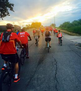 Slow Roll Buffalo off into the sunset.