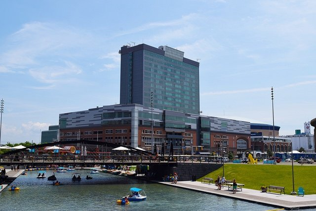 Canalside in downtown Buffalo.