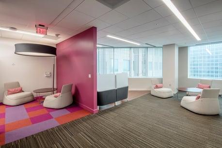 IBM comfortable office furniture.