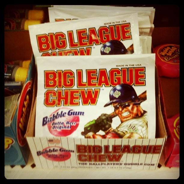 Big League Chew gum pouches.