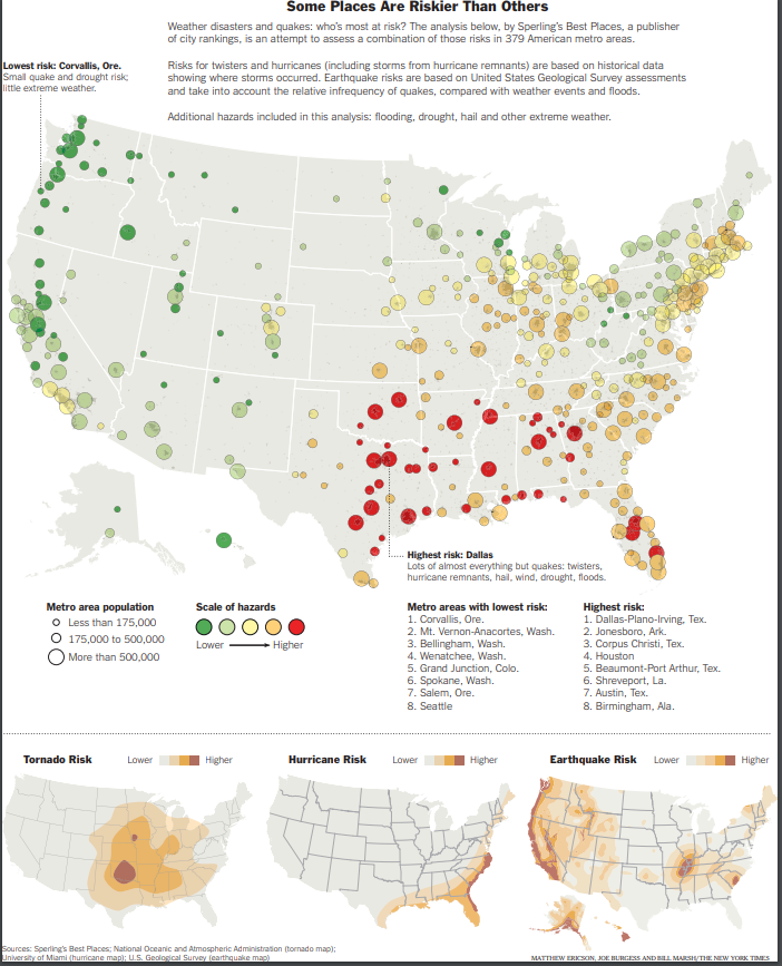 The New York Times disaster map