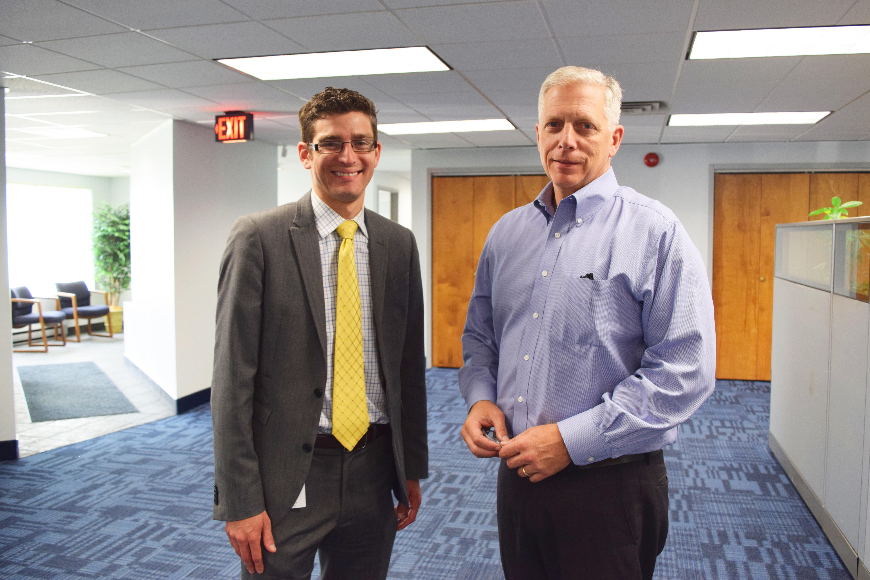InBN's Alan Rosenhoch (left) and Viatran's Kevin Cornacchio (right).