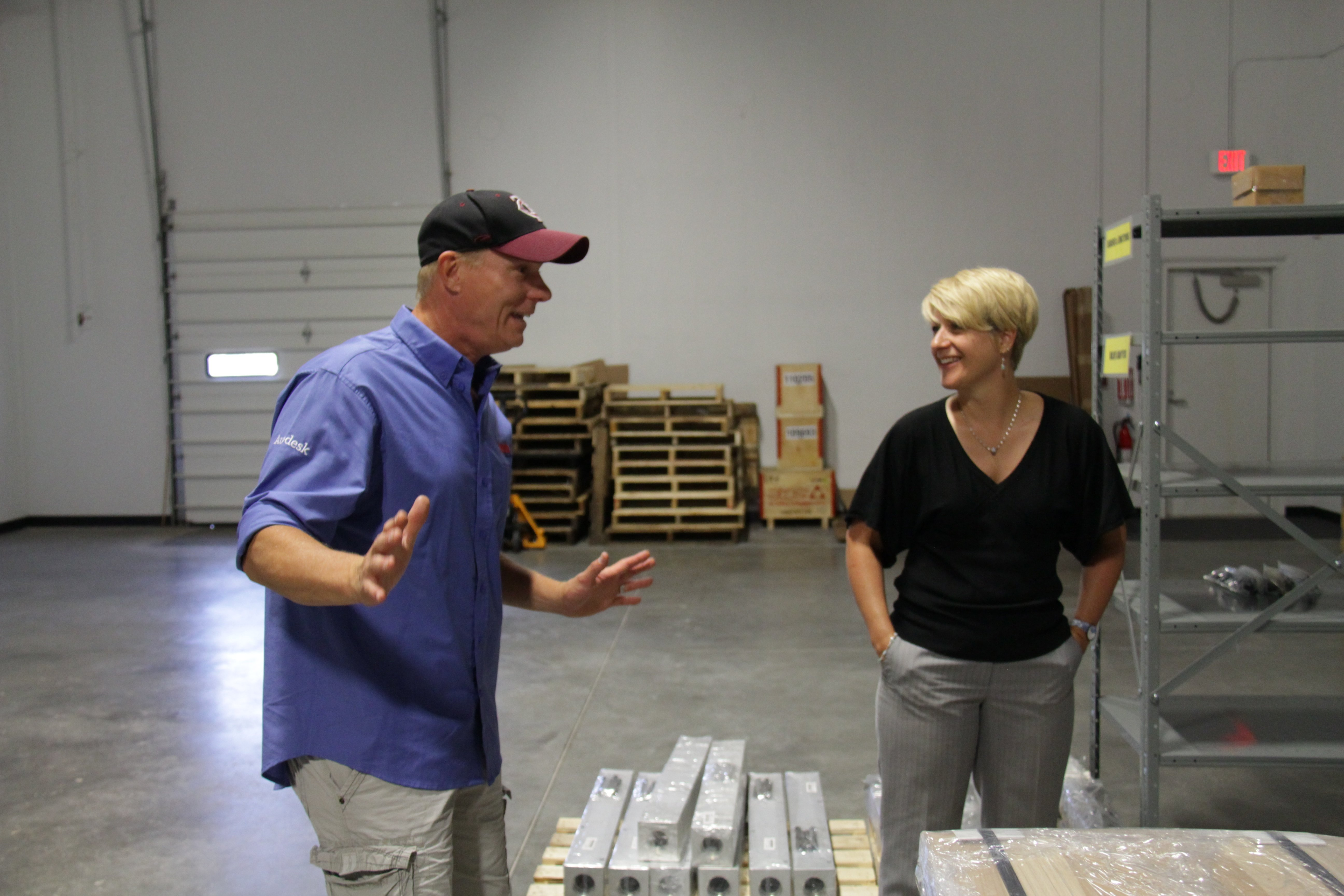 Our business development manager Carolyn Powell (right) getting the LynchUSA tour.