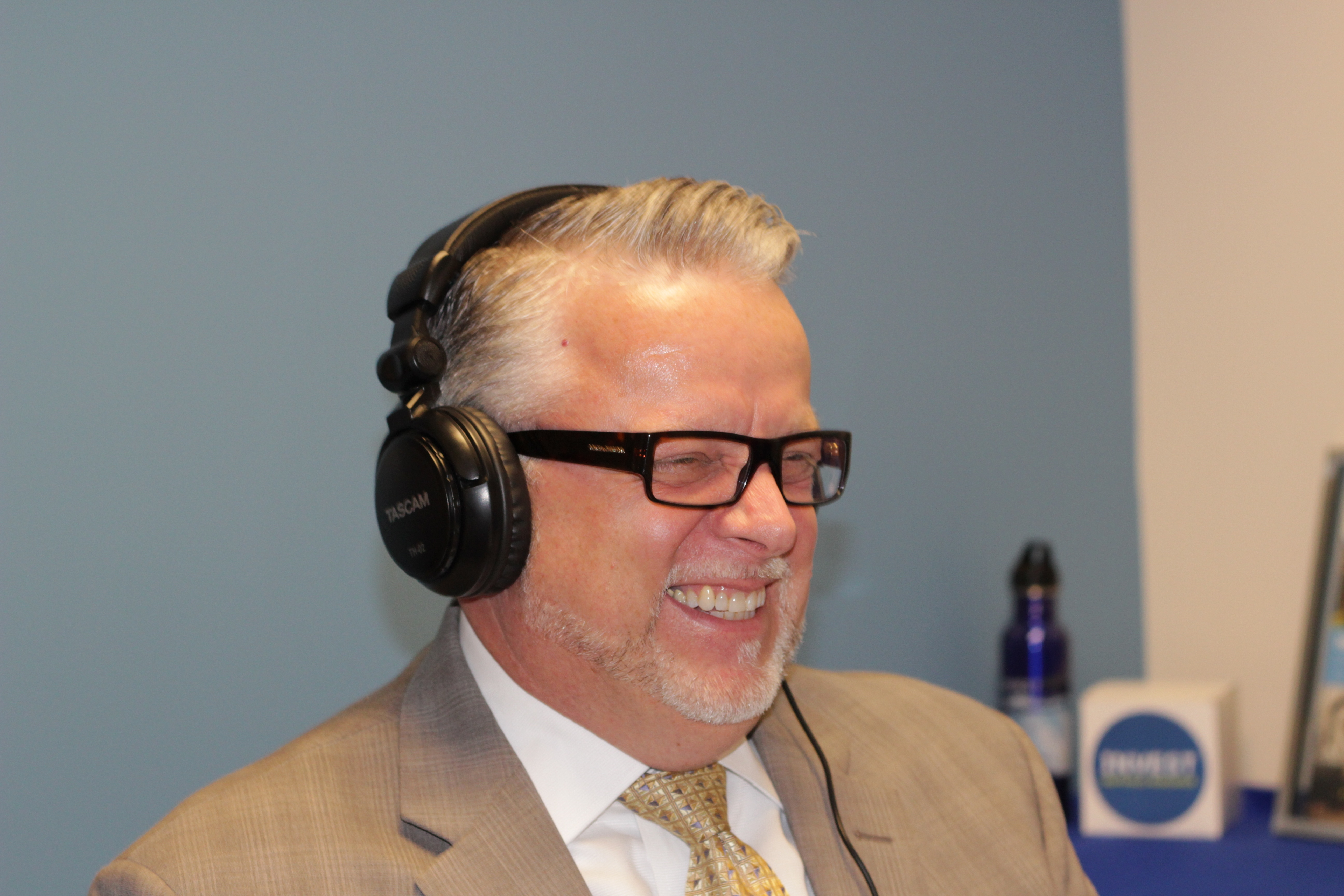 Keith Hayes having a laugh in the Bell Ringer studio